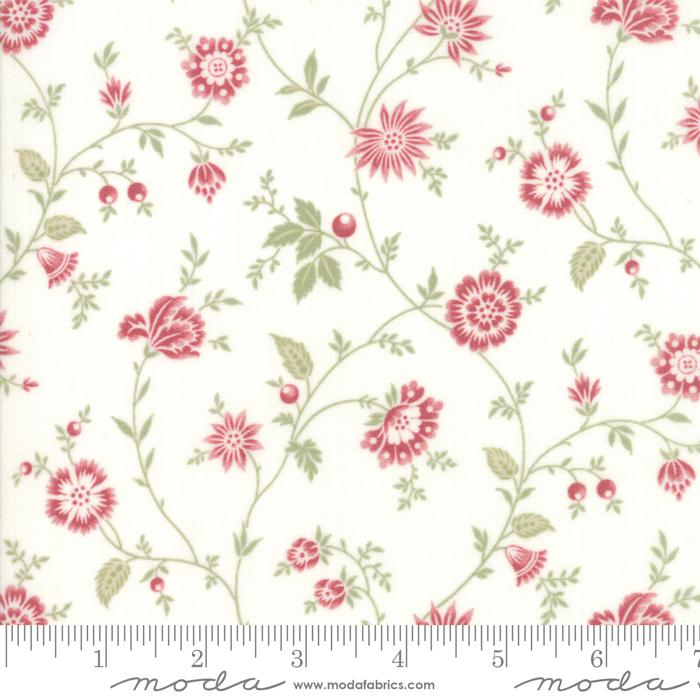 Ritagli d'Arte – Tessuti – Collezione Porcelain by 3 Sisters – Moda Fabrics – 44193-22