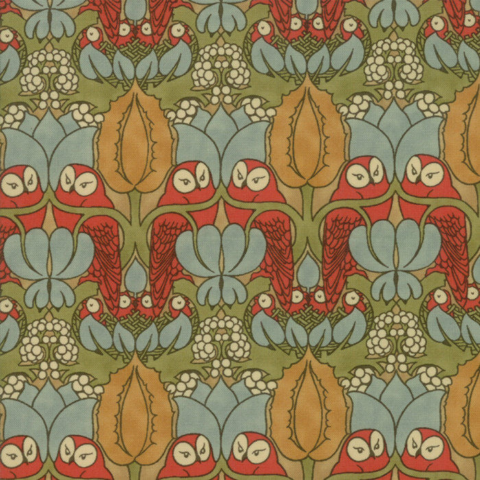 Voysey from the V&A archives – Moda Fabrics 7321-15