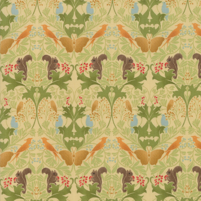 Voysey from the V&A archives – Moda Fabrics 7322-11