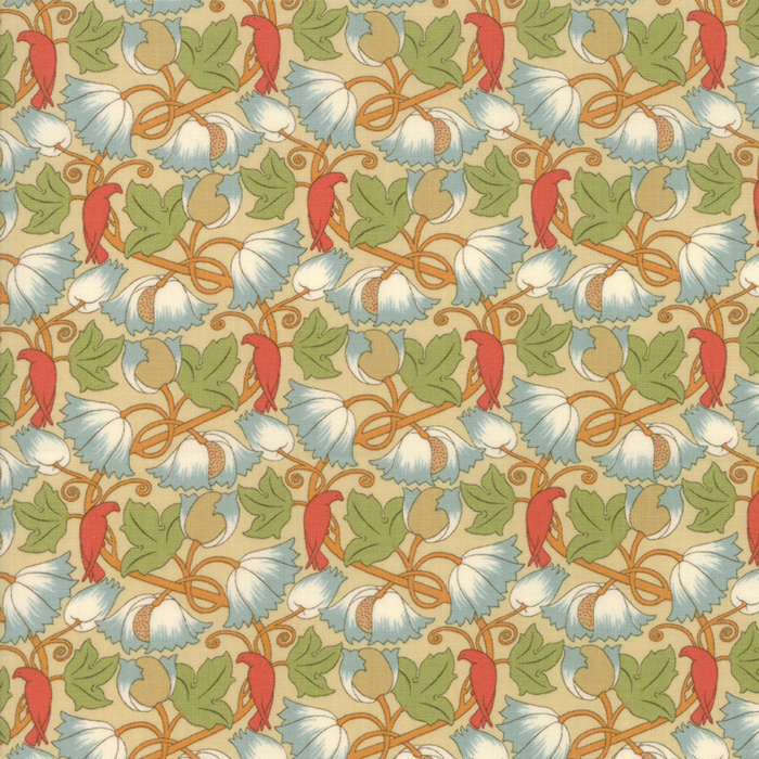 Voysey from the V&A archives – Moda Fabrics 7325-11