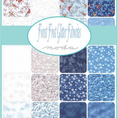 Collezione Forest Frost Glitter - Moda Fabrics