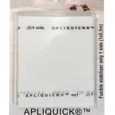 Questa Fliselina Termoadesiva Apliquick è studiata appositamente per lavorare con la tecnica dell'applique giapponese in miniatura. Sufficientemente flessibile, può essere utilizzata con qualsiasi tessuto, facile da lavorare con le bacchette Apliquick e dopo il lavaggio, nessuno saprà che è lì.