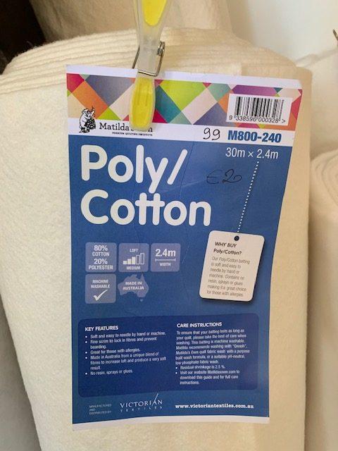 Imbottitura poliestere cotone